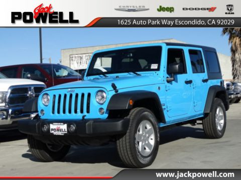 NEW 2018 JEEP WRANGLER JK UNLIMITED SPORT S 4X4